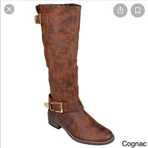 STEVE MADDEN Suspekt Brown Leather Knee High Boots